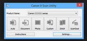 IJ Start Canon Scanner Utility